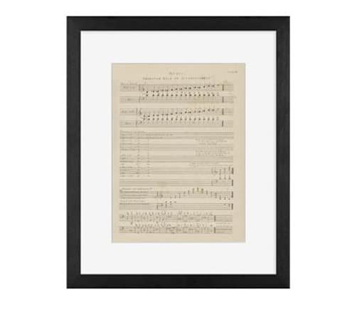 music sheet framed print