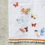 no sew diy butterfly tea towel