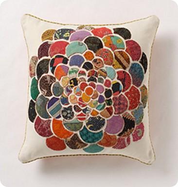 orimono flower pillow