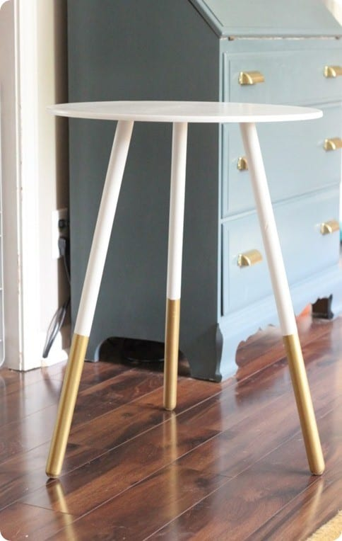 paint dipped side table