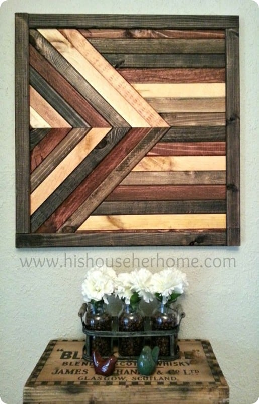 Geometric Stained Wood Wall D 233 Cor Knockoffdecor Com