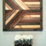 Geometric Stained Wood Wall Décor