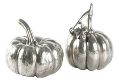 pewter pumpkin salt and pepper shaker
