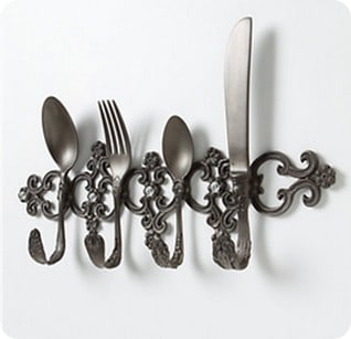 place setting hook rack