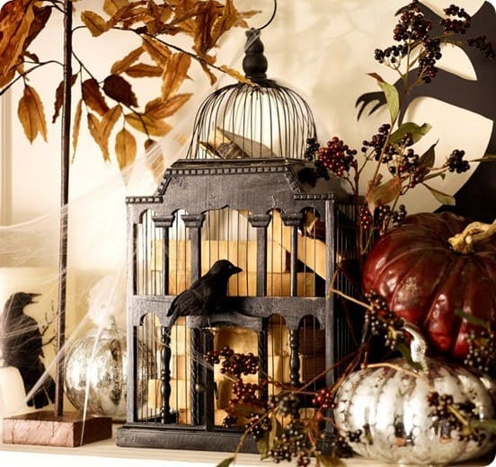 pottery barn bird cage