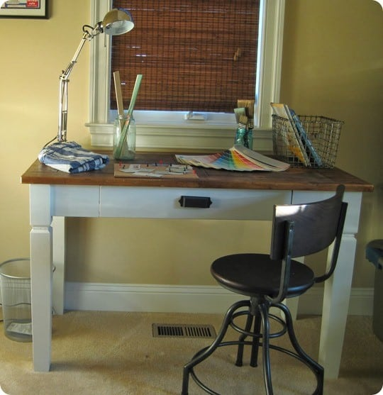 pottery barn inspired desk makeover