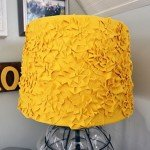 Yellow Rosette Lampshade Makeover