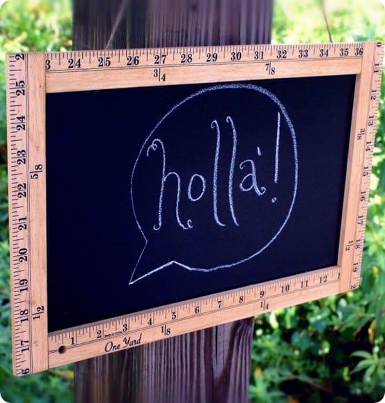 ruler-framed chalkboard