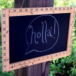 Vintage Framed-Ruler Chalkboard Sign