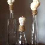 Beachy Bottles with Seashells