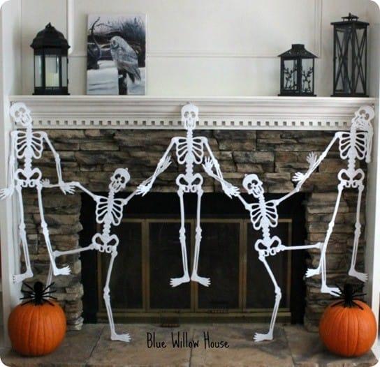 Dancing Skeleton Halloween Garland Knockoffdecor Com