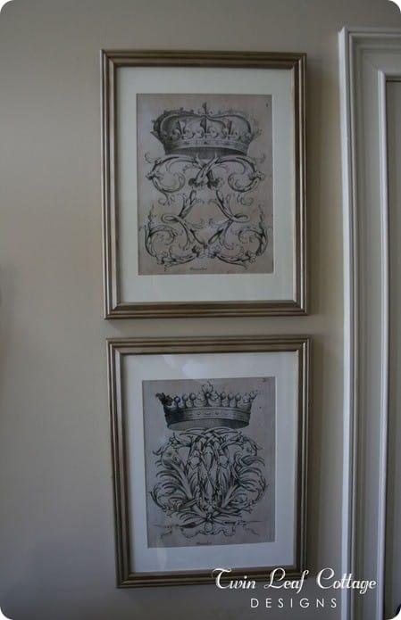 vintage ephemera wall art