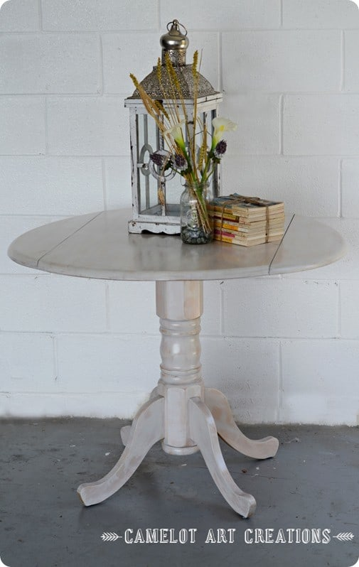 whitewashed table