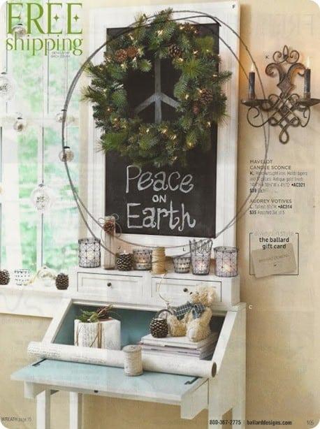 ballard peace on earth wreath
