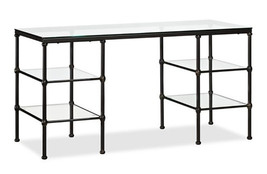blair iron and glass desk