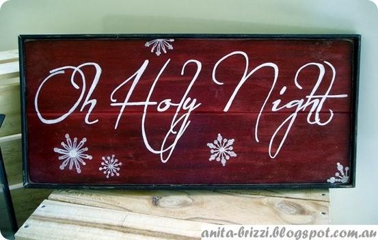 O Holy Night Christmas Sign
