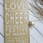 Gold and White Christmas Sign