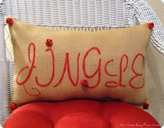 diy jingle pillow