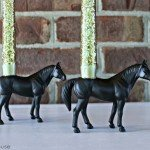Horse Candle Holders from Plastic Toys