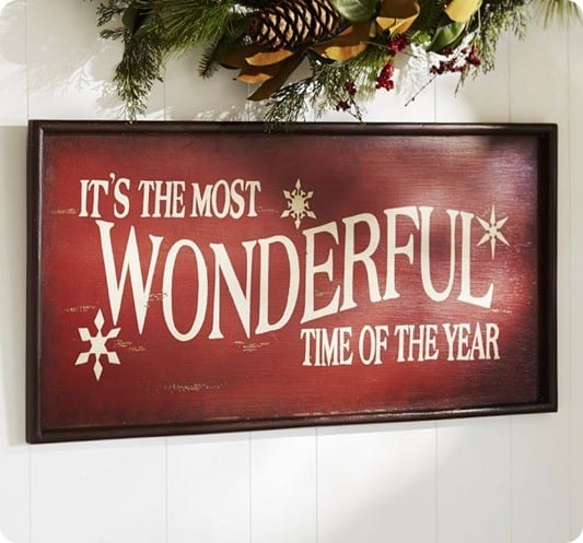 Christmas Sign Decorations: It's The Most Wonderful Time Of The Year Sign {Free