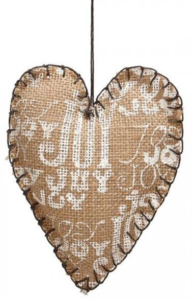 jute heart ornaments