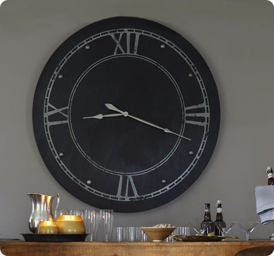 large round steel clock
