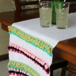 pom pom table runner