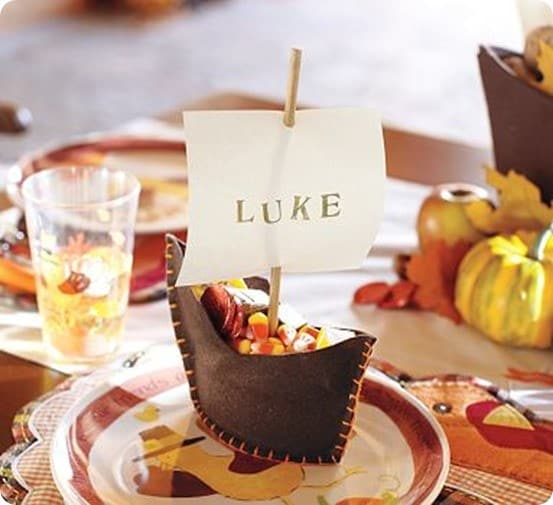 pottery barn kids mayflower placecards