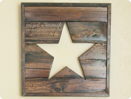 Stacy was inspired by the Pierced Wood Star Panel from Pottery Barn .