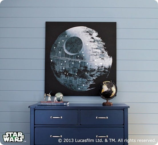 star wars death star led artwork