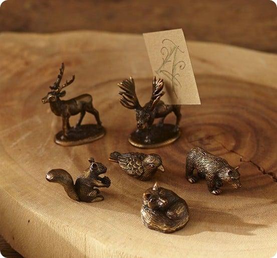 woodland animal place card holder set