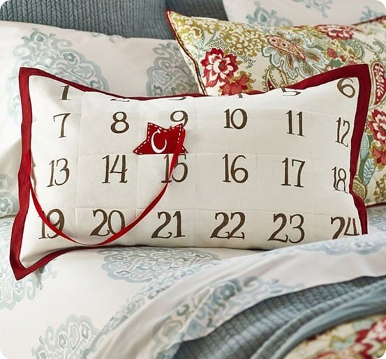 Christmas Countdown Advent Pillow