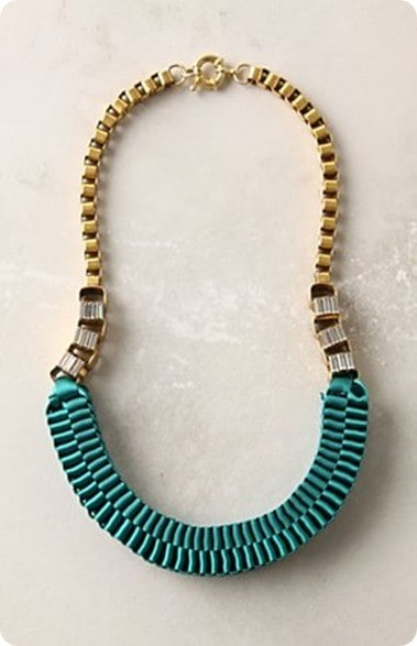 anthro accordian strands necklace