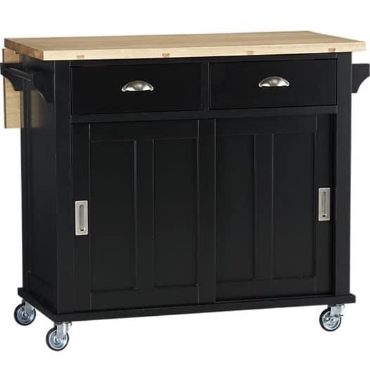 Vintage Desk to Rolling Bar Cart : belmont black kitchen island from knockoffdecor.com size 526 x 543 jpeg 28kB