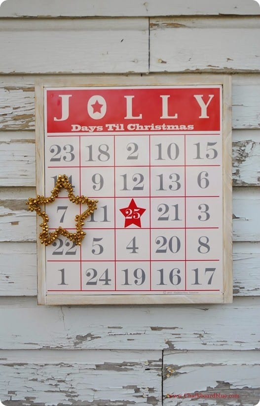 bingo board christmas countdown