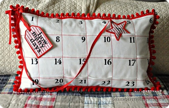 christmas countdown pillow