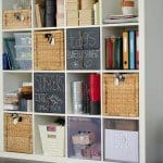 Industrial Wood and Metal Craft Room Storage
