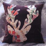 Appliqued Deer Silhouette Pillow