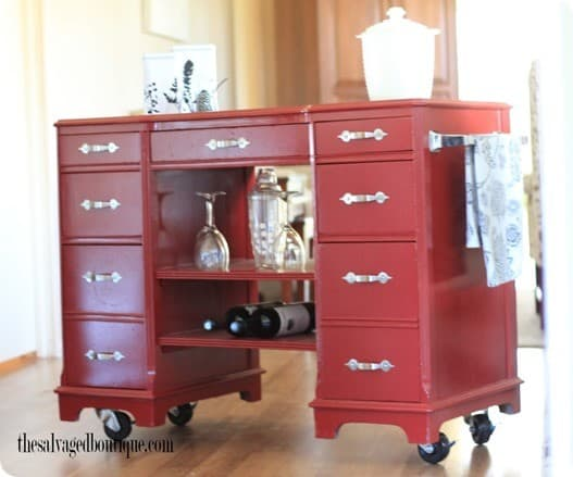 desk to bar cart