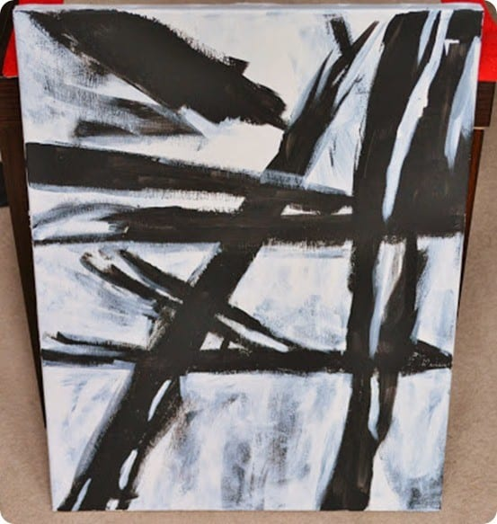 diy abstract painting