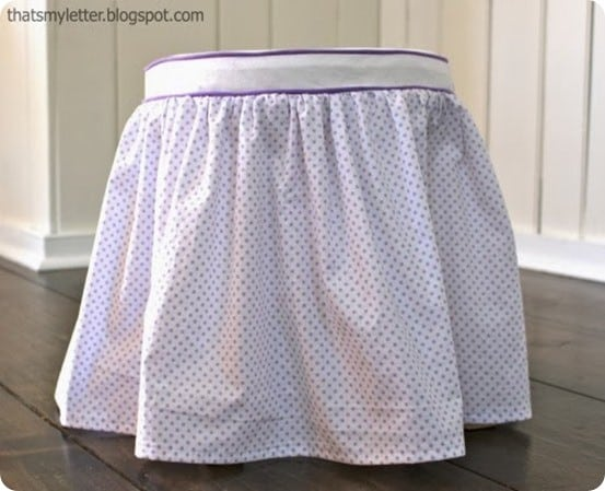 diy girls slipcovered stool
