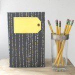Pretty Patterned Notebook with Gift Tag