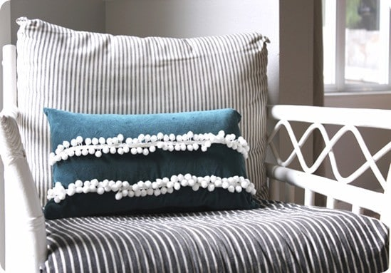 diy pom pom trim pillow