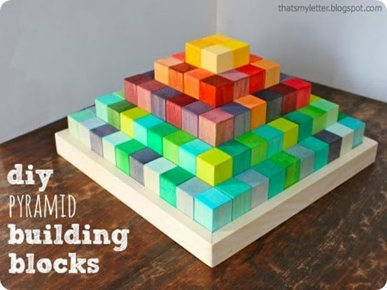 diy pyramid building blocks