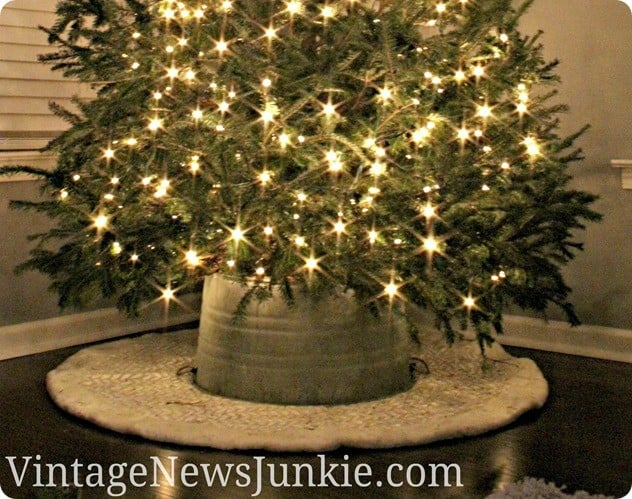 galvanized bucket tree skirt