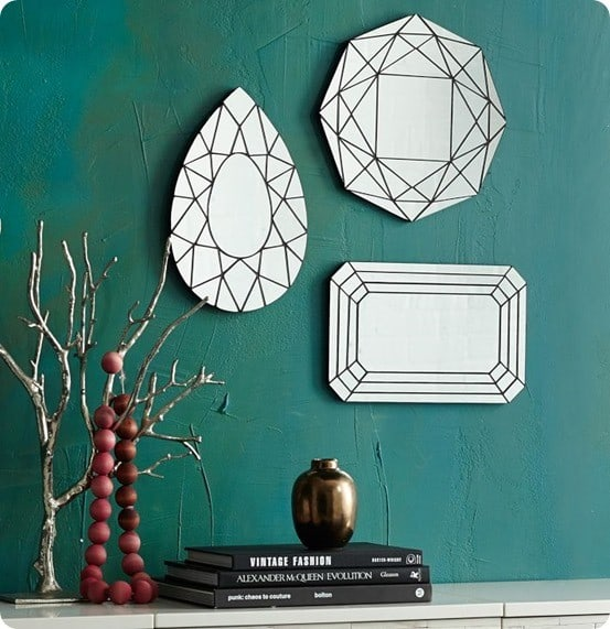 gem cutout mirrors