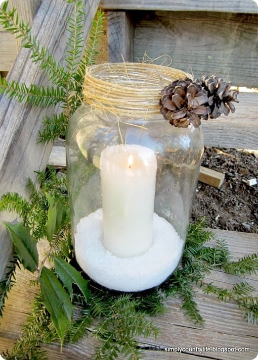 glass jar candle holder