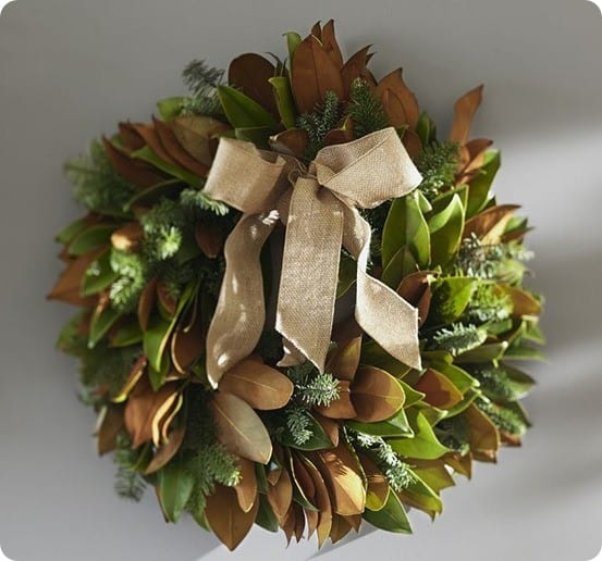 Fresh Magnolia And Fir Wreath