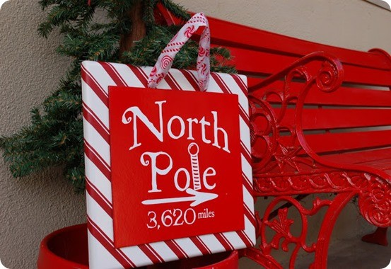 north pole christmas sign