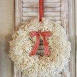 Wintery Pom-Pom Yarn Wreath